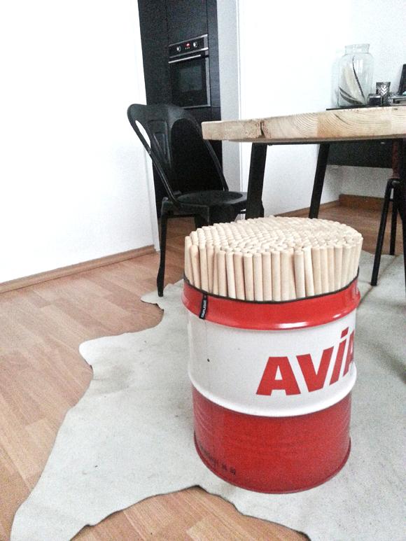 Esstisch DIY recycling-8